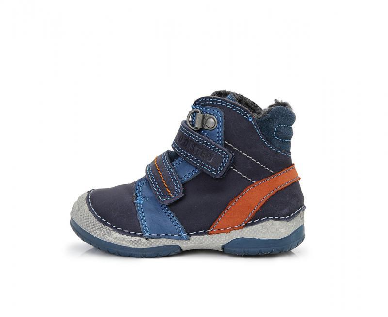 bc1c38869c67 D.D.Step tmavomodré mix vysoké kožušinové topánky pre chlapcov na suchý  zips 19-24