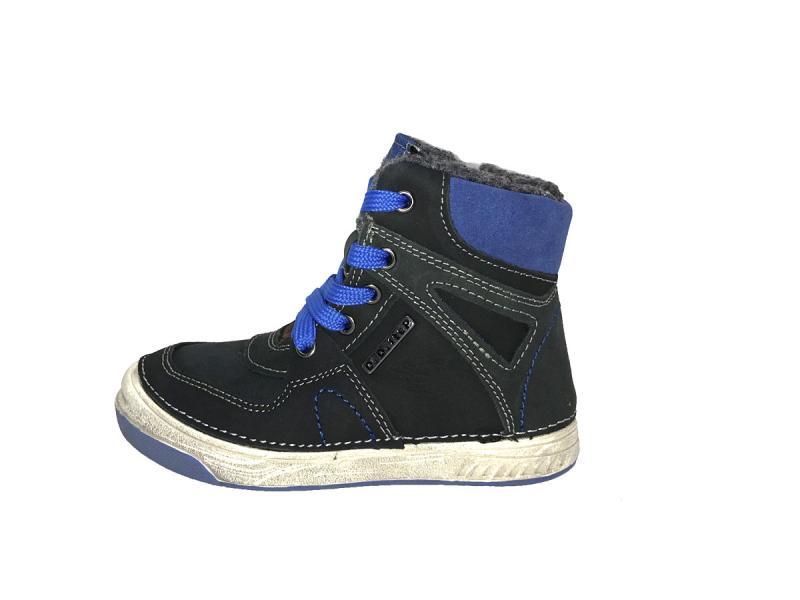 a4692619fde0c D.D.step modré šnurovacie zimné detské topánky vysoké s kožusinou 25 ...
