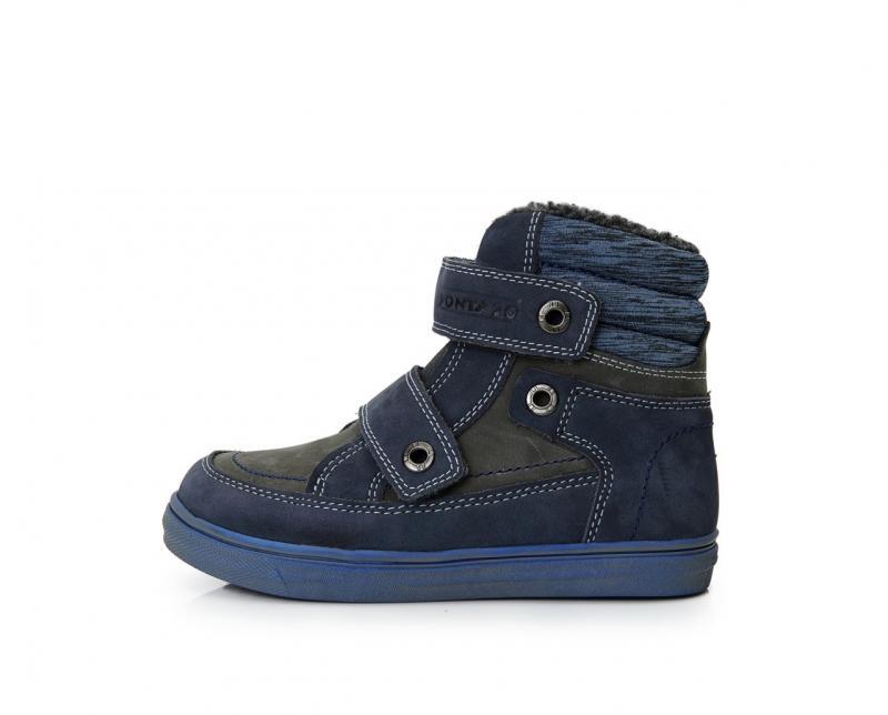 08856c4f9913 PONTE modrosivé supinované vysoké kožušinové topánky pre chlapcov na suchý  zips 28-33