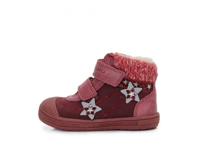 d6aa1c3dd38d PONTE bordové supinované vysoké kožušinové topánky pre dievčatá na suchý  zips 22-27
