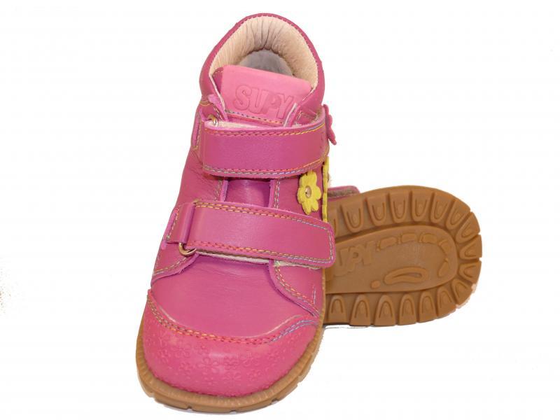 Supykids GABO pink-sárga virágos tépőzáras supinált gyerekcipő - 3