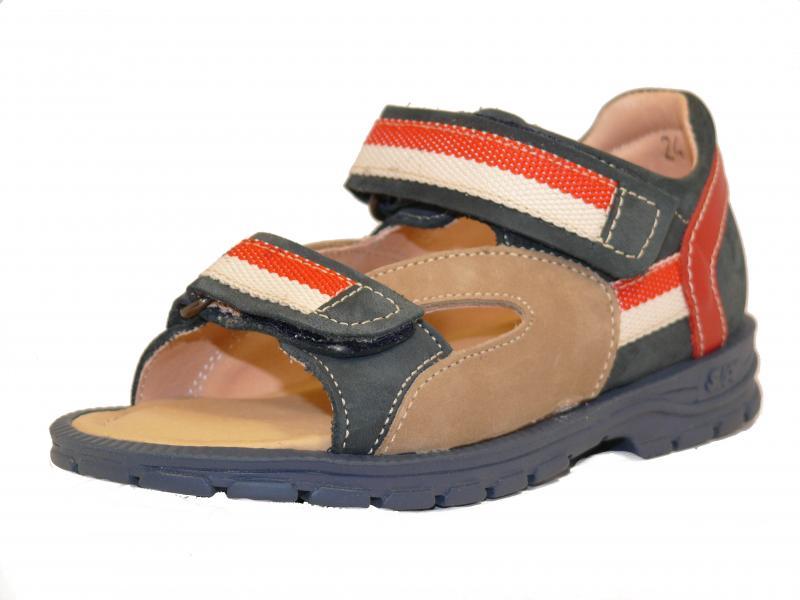 Supykids ROMI detské sandále na suchý zips modro-červené - 4