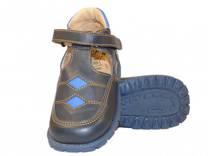 Supykids BOBY dětské chlapecké sandály vpředu uzavřené modré - 3