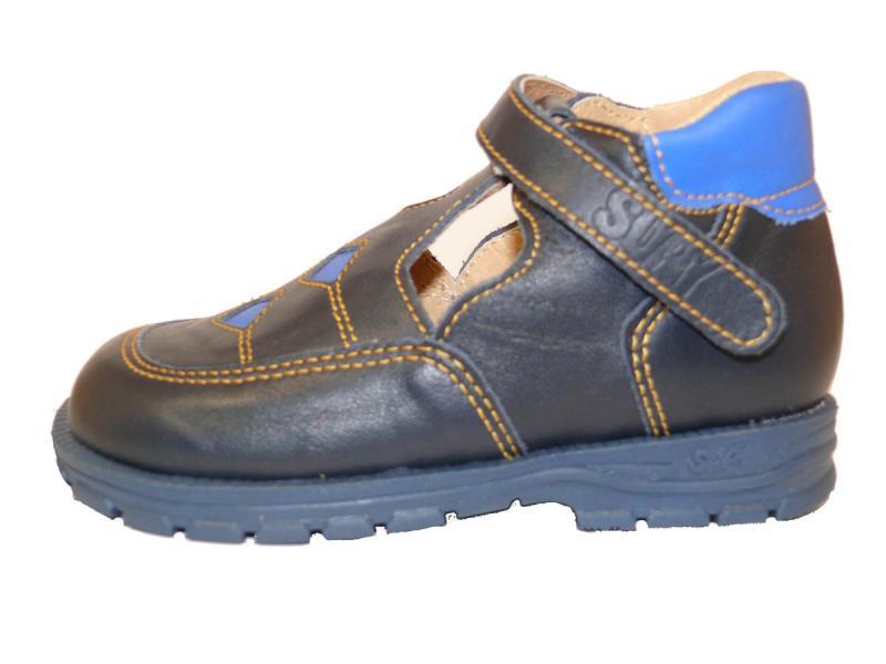 Supykids BOBY dětské chlapecké sandály vpředu uzavřené modré - 2