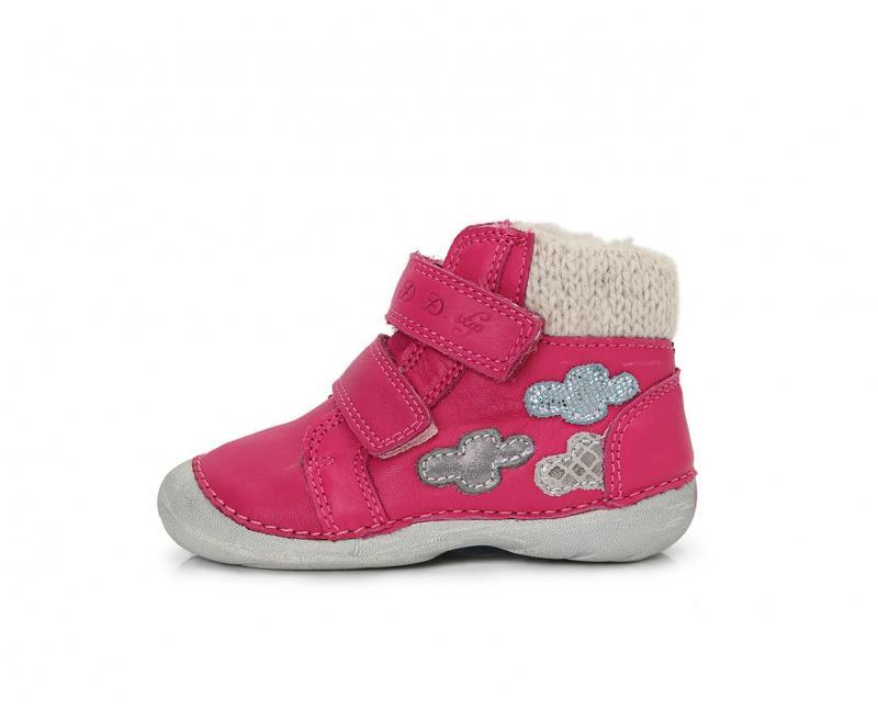 46cae2949cf6a D.D.step ružové detské topánky s kožušinkou na suchý zips 19-24 pre dievčatá