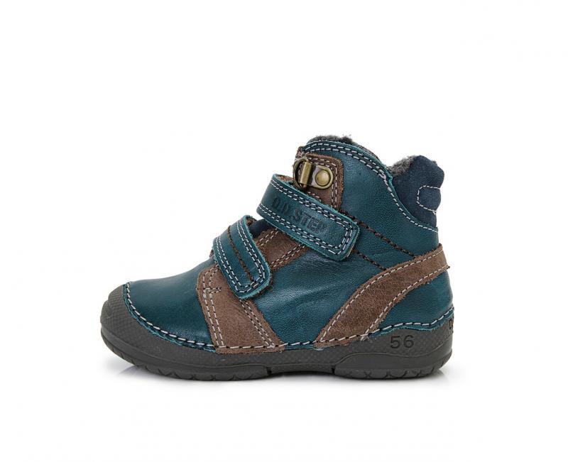 D.D.Step zeleno hnědé vysoké kožešinové boty pro chlapce na suchý zip 19-24 b77744ce1b2