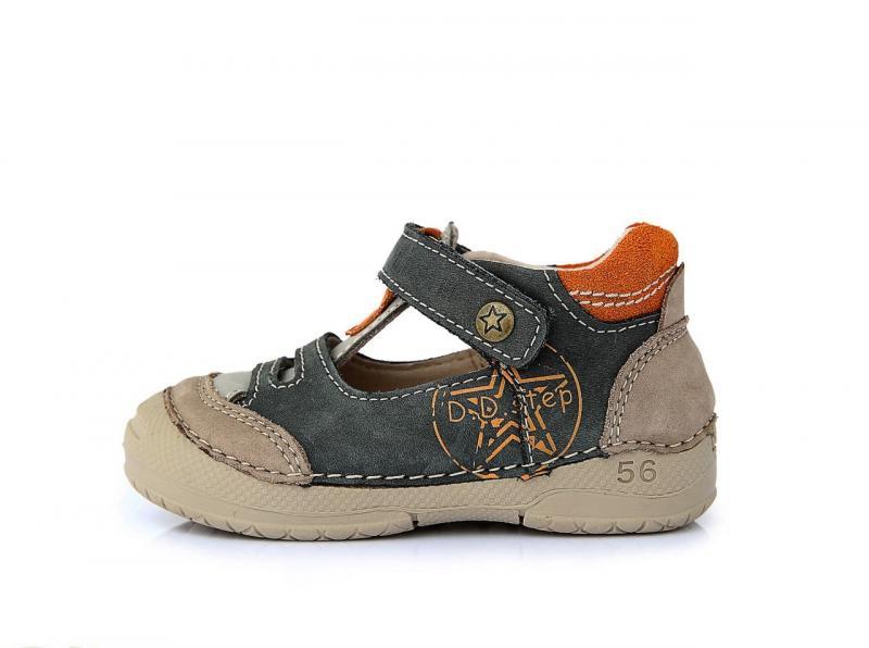 7290101631869 Akcia. D.D.step khaki chlapčenské detské topánky so suchým zipsom 19-24